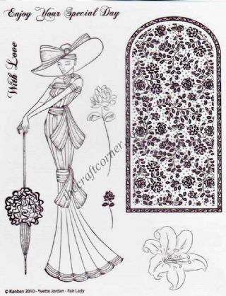 Edwardian My Fair Lady 7 Clear Unmounted Rubber Stamp Set